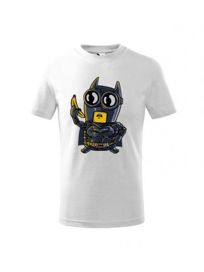 Dziecięca koszulka z krótkim rękawem i karykaturą postaci z komiksu. Koszulka biała.