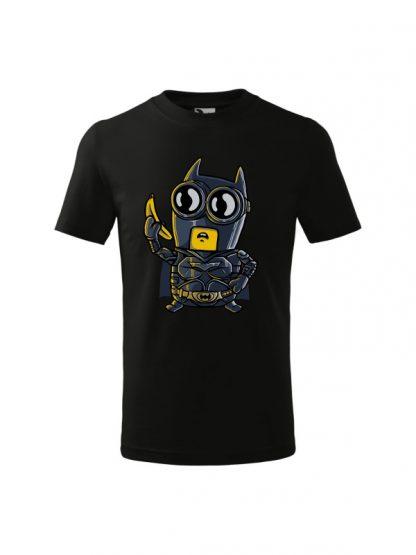 Dziecięca koszulka z krótkim rękawem i karykaturą postaci z komiksu. Koszulka czarna.