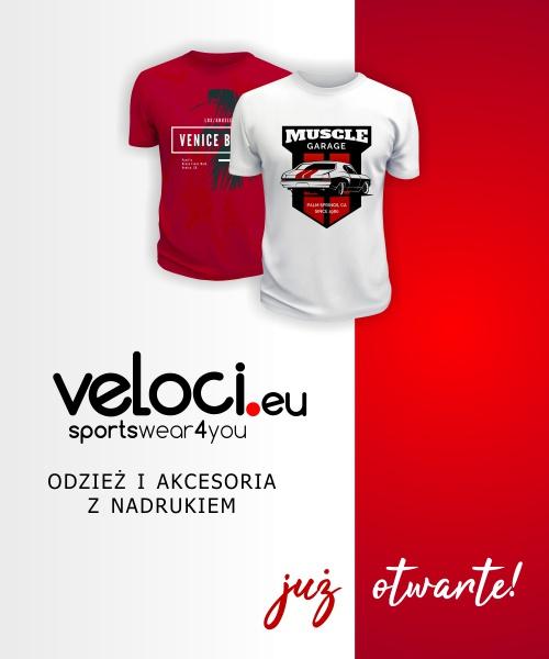 Veloci.eu - sklep z odzieżą i akcesoriami z nadrukiem już otwarty! Sprawdź naszą ofertę