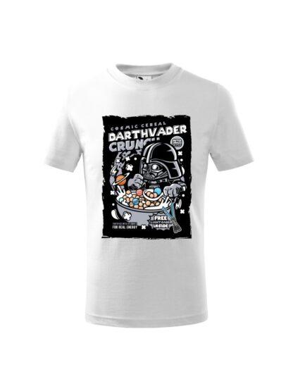 Dziecięca koszulka z krótkim rękawem i kolorowym nadrukiem płatków śniadaniowych Cosmic Cereal, nawiązujących do popularnej serii filmów sci-fi. Koszulka biała.