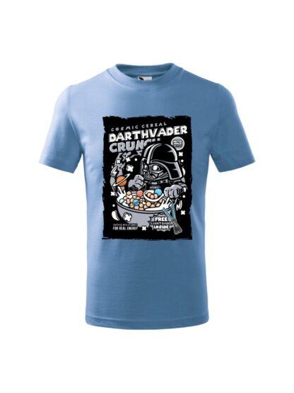Dziecięca koszulka z krótkim rękawem i kolorowym nadrukiem płatków śniadaniowych Cosmic Cereal, nawiązujących do popularnej serii filmów sci-fi. Koszulka błękitna.